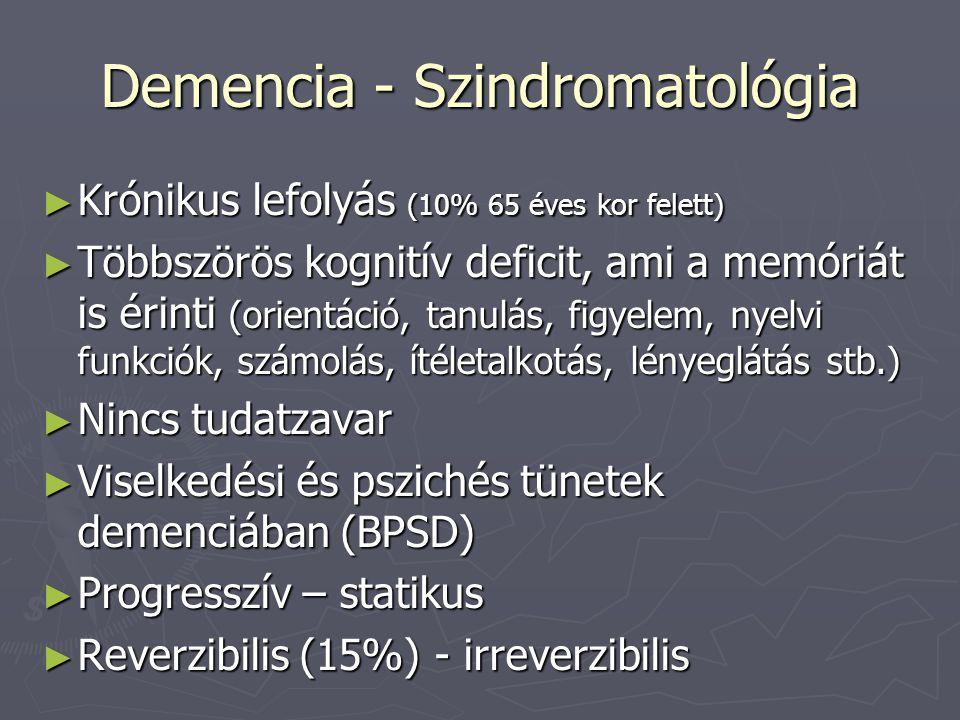 Demencia - Szindromatológia