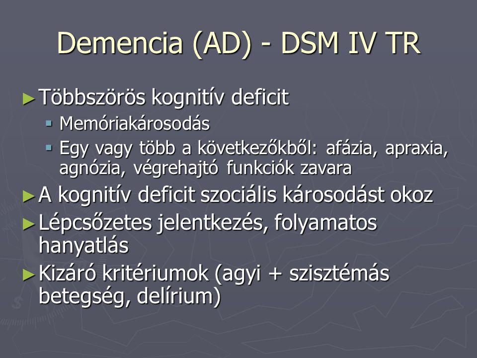 Demencia (AD) - DSM IV TR