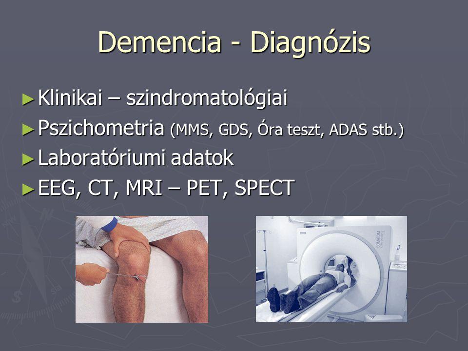 Demencia - Diagnózis Klinikai – szindromatológiai