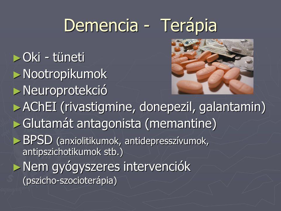 Demencia - Terápia Oki - tüneti Nootropikumok Neuroprotekció