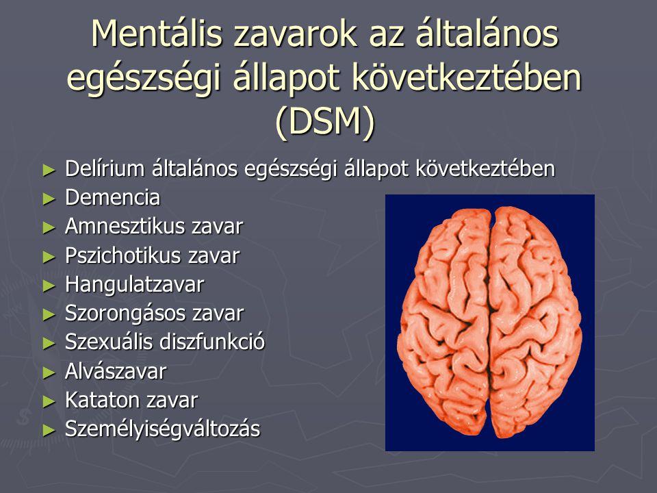 Mentális zavarok az általános egészségi állapot következtében (DSM)