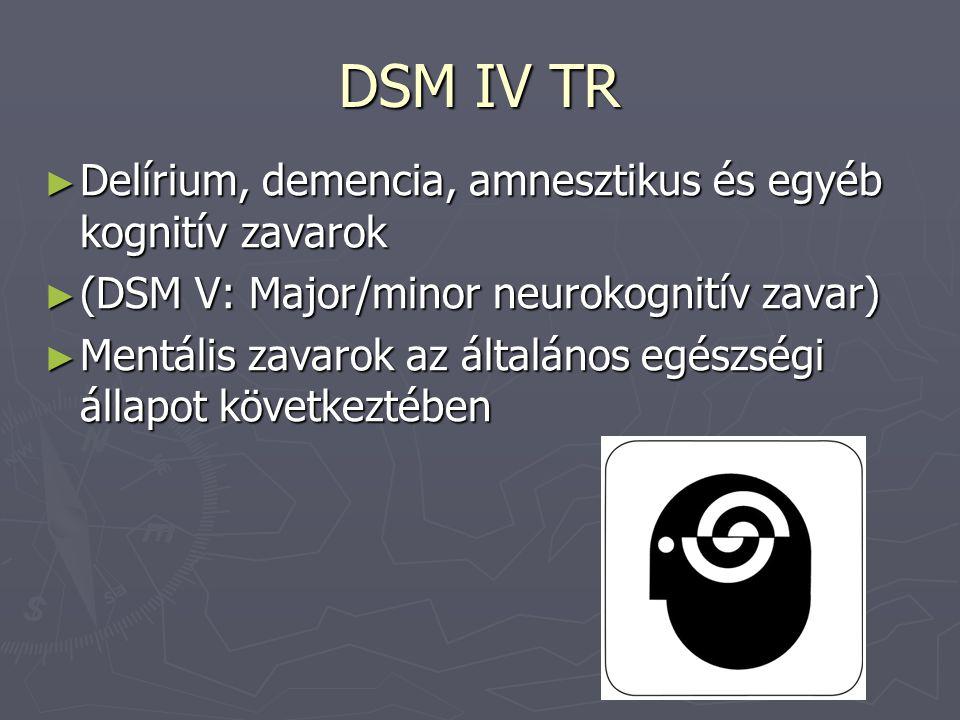 DSM IV TR Delírium, demencia, amnesztikus és egyéb kognitív zavarok