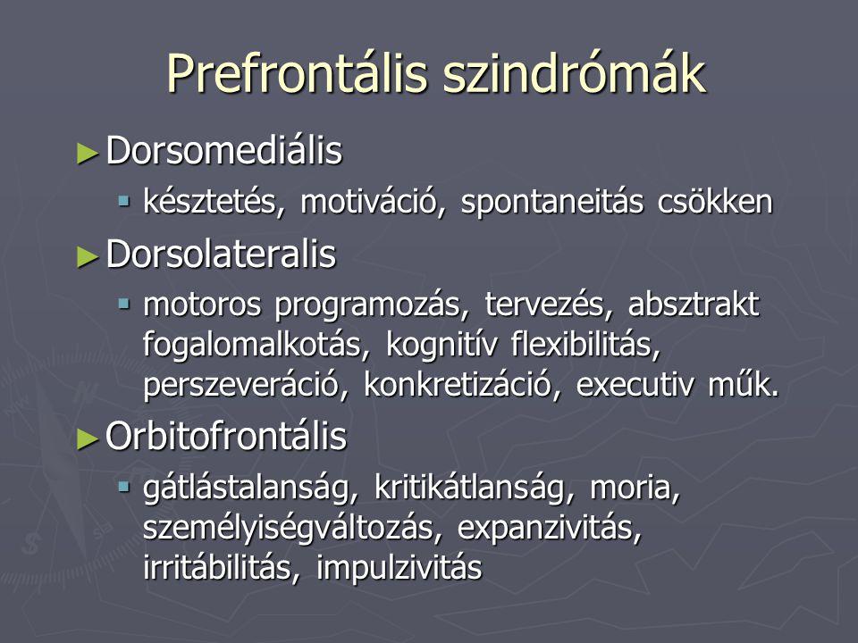 Prefrontális szindrómák