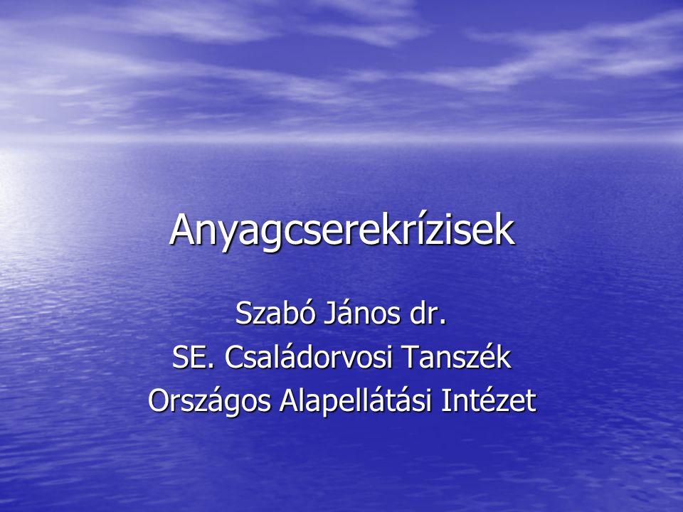 Szabó János dr. SE. Családorvosi Tanszék Országos Alapellátási Intézet