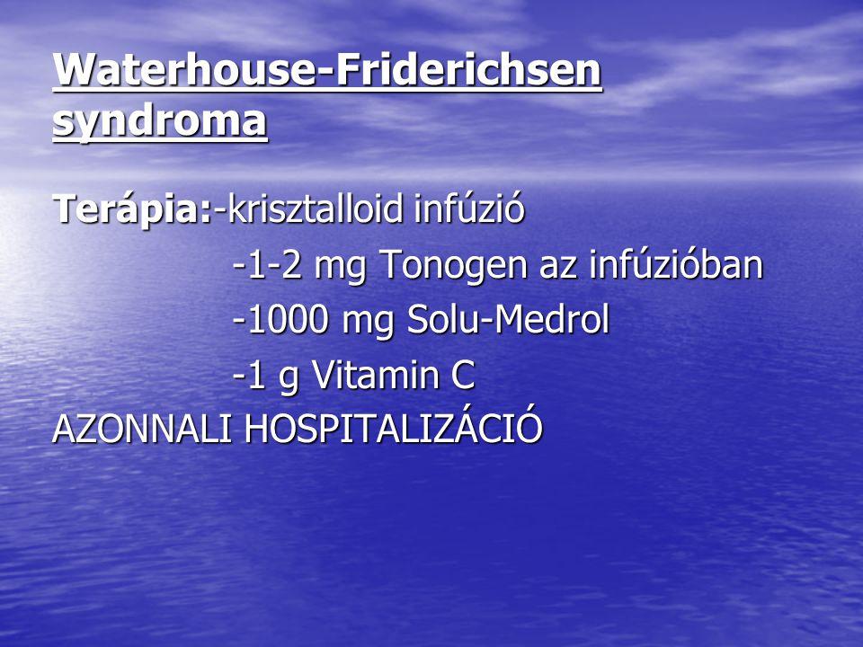Waterhouse-Friderichsen syndroma