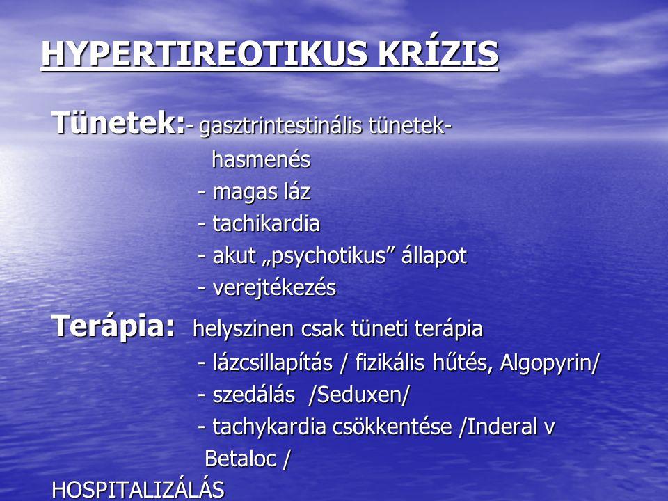 HYPERTIREOTIKUS KRÍZIS