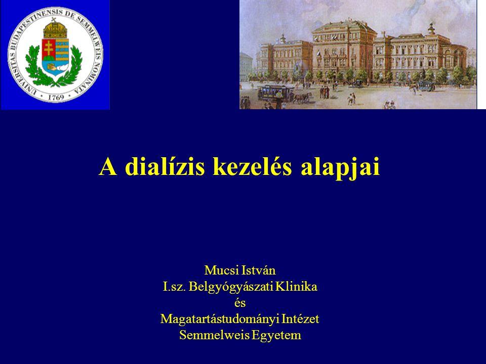 A dialízis kezelés alapjai