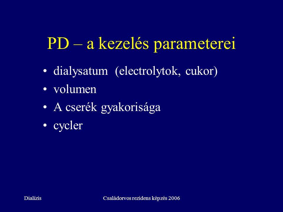 PD – a kezelés parameterei