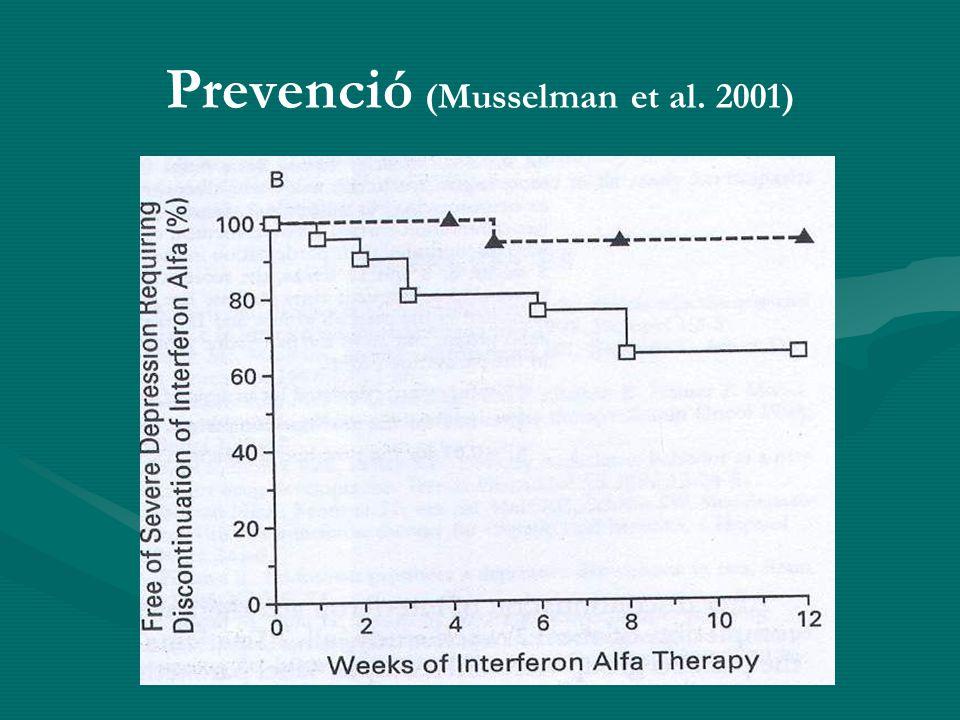 Prevenció (Musselman et al. 2001)