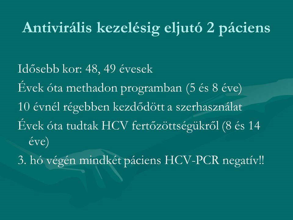 Antivirális kezelésig eljutó 2 páciens