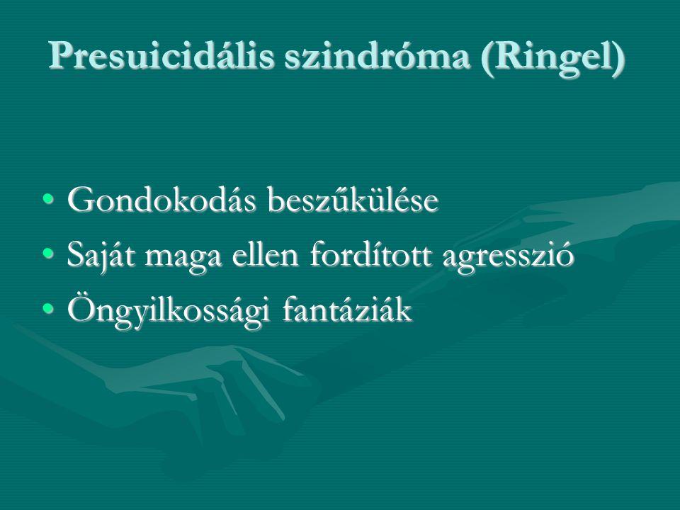 Presuicidális szindróma (Ringel)