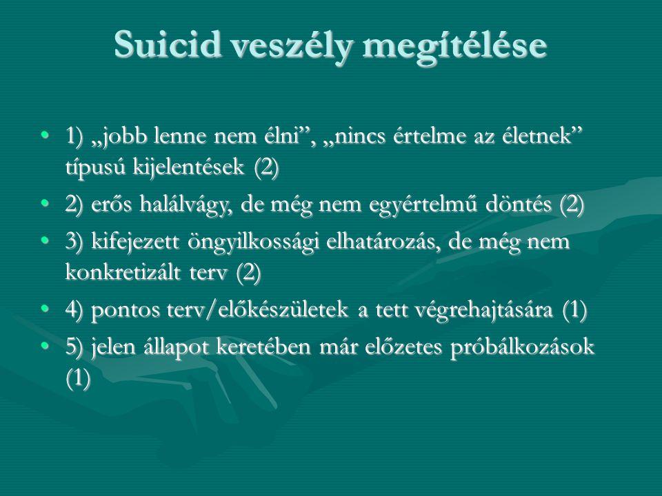 Suicid veszély megítélése