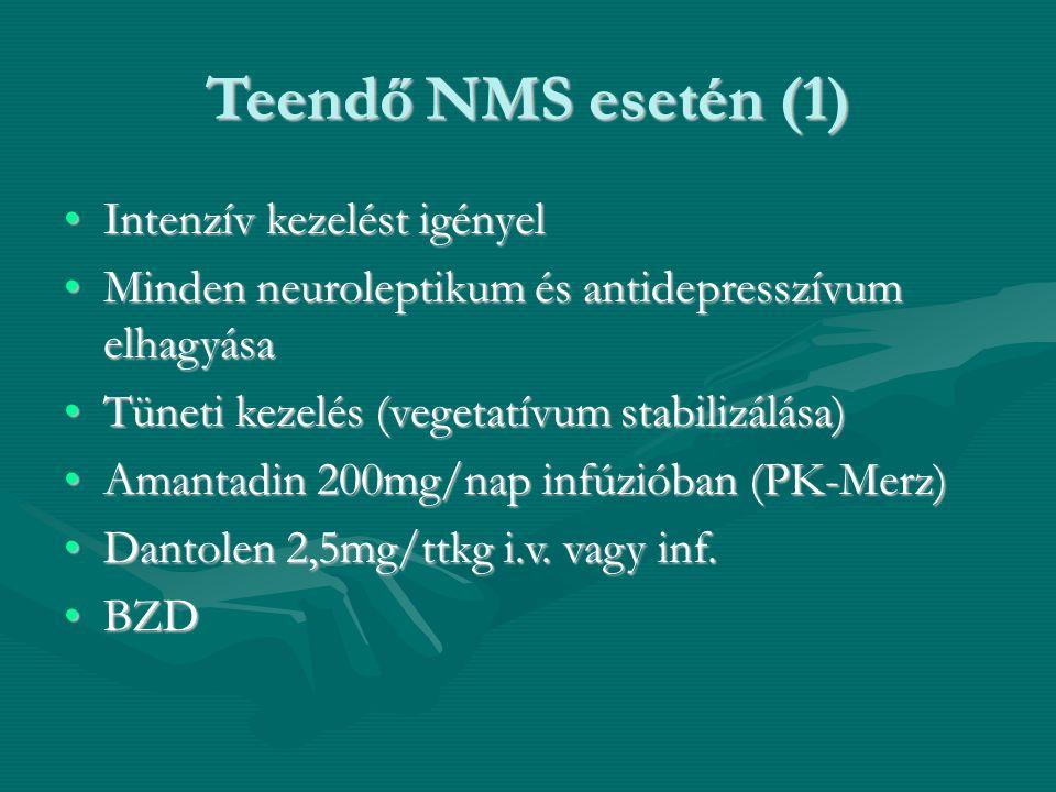 Teendő NMS esetén (1) Intenzív kezelést igényel
