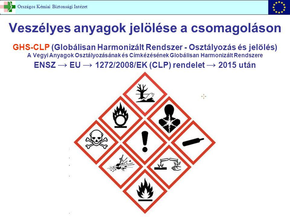 Veszélyes anyagok jelölése a csomagoláson