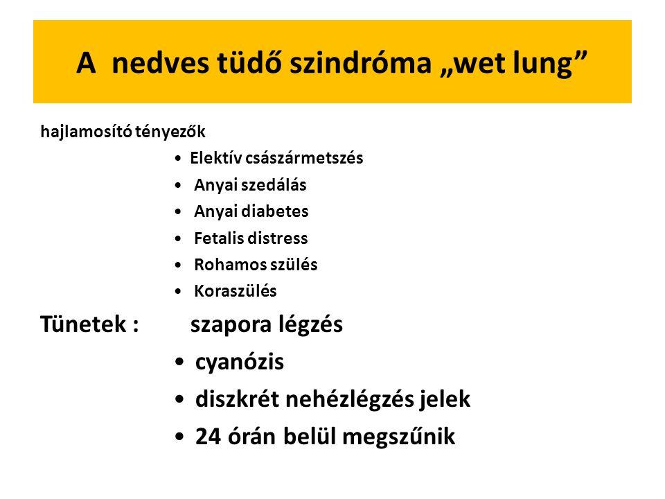 """A nedves tüdő szindróma """"wet lung"""
