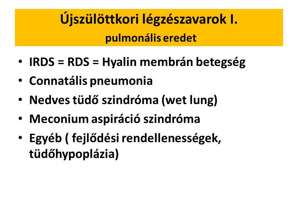Újszülöttkori légzészavarok I. pulmonális eredet