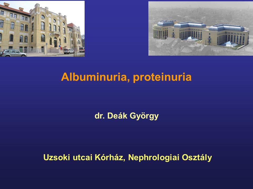 Albuminuria, proteinuria Uzsoki utcai Kórház, Nephrologiai Osztály