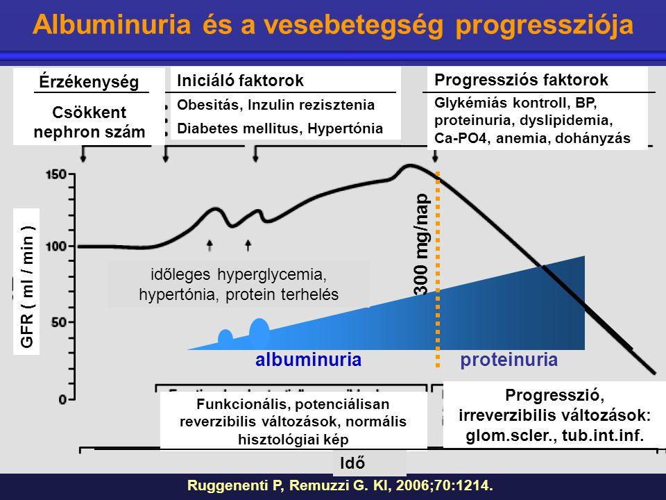 Albuminuria és a vesebetegség progressziója irreverzibilis változások: