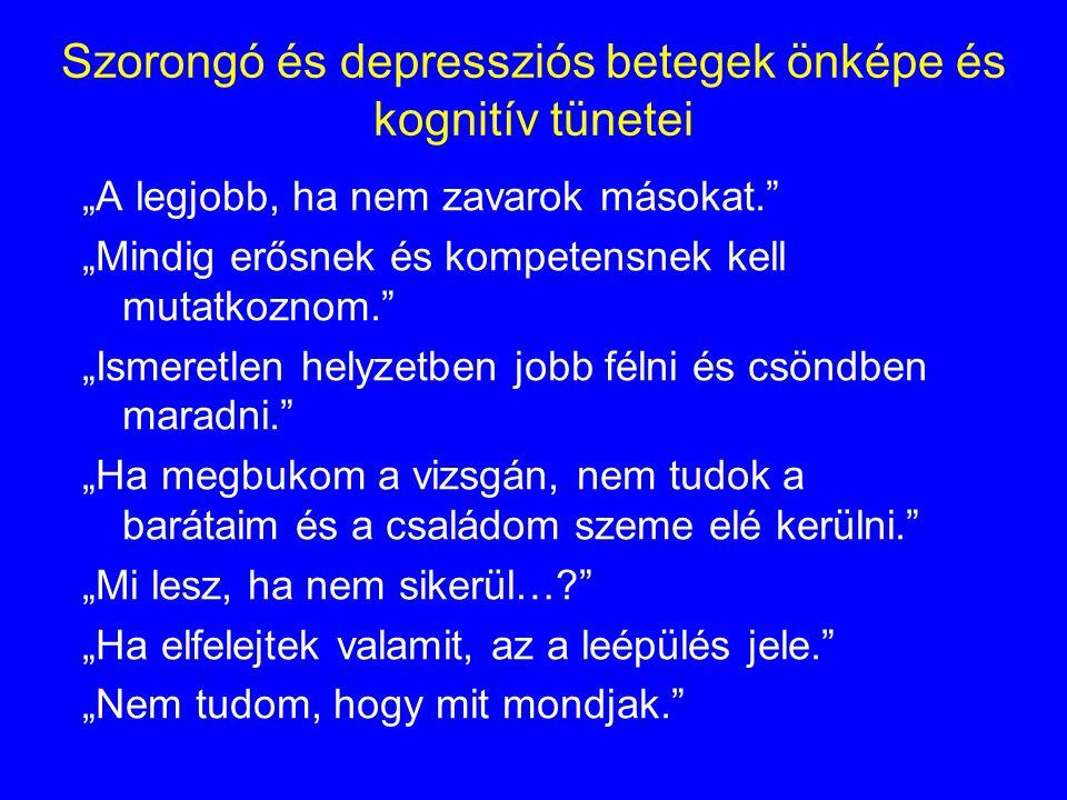 Szorongó és depressziós betegek önképe és kognitív tünetei