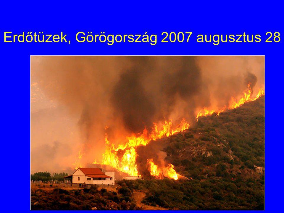 Erdőtüzek, Görögország 2007 augusztus 28