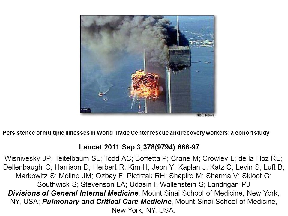 Persistence of multiple illnesses in World Trade Center rescue and recovery workers: a cohort study