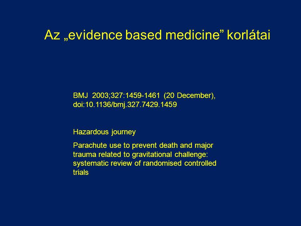"Az ""evidence based medicine korlátai"
