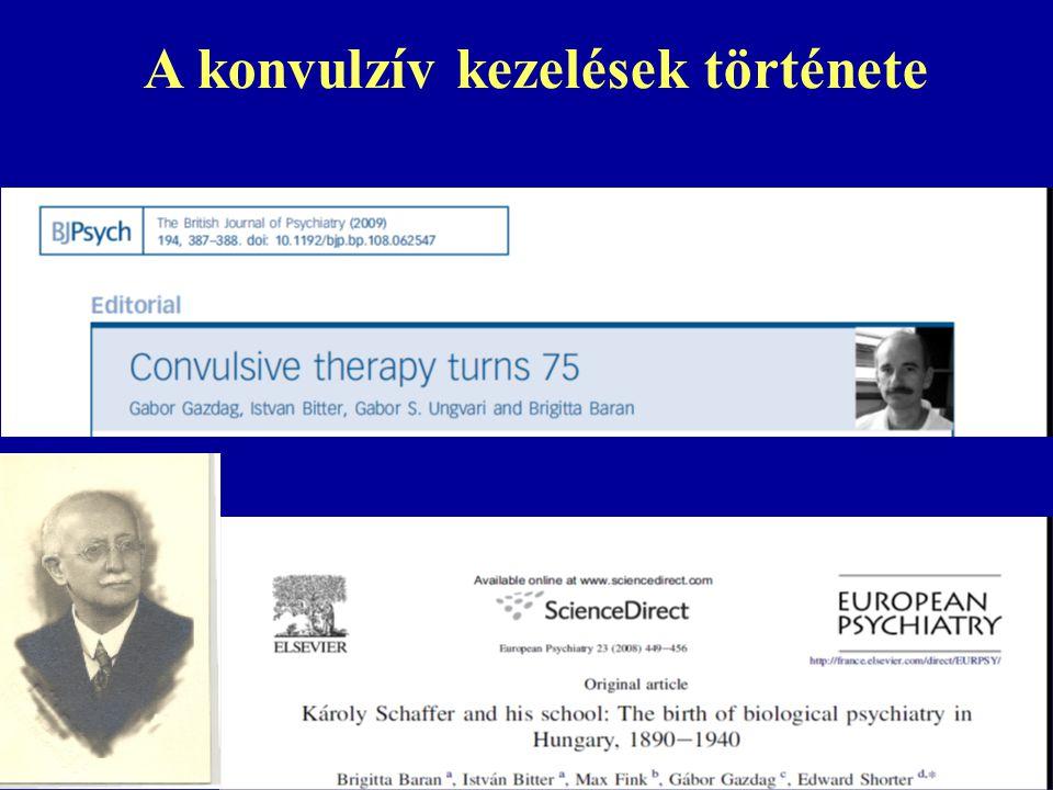 A konvulzív kezelések története
