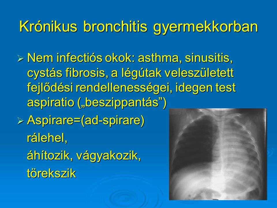 Krónikus bronchitis gyermekkorban