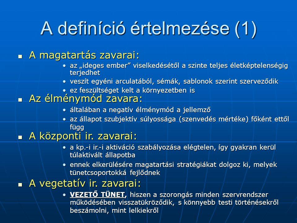 A definíció értelmezése (1)