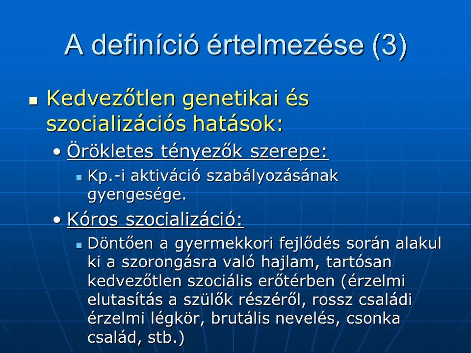 A definíció értelmezése (3)