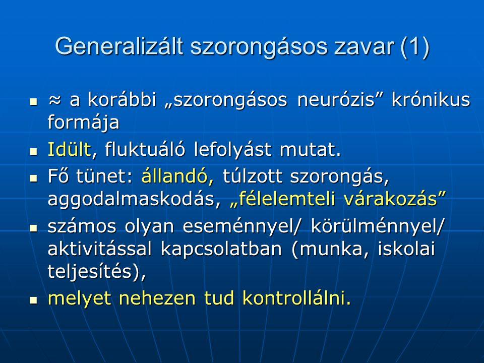 Generalizált szorongásos zavar (1)
