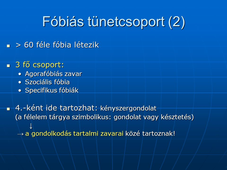 Fóbiás tünetcsoport (2)