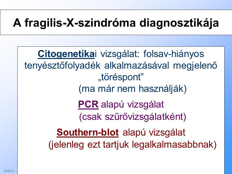 A fragilis-X-szindróma diagnosztikája