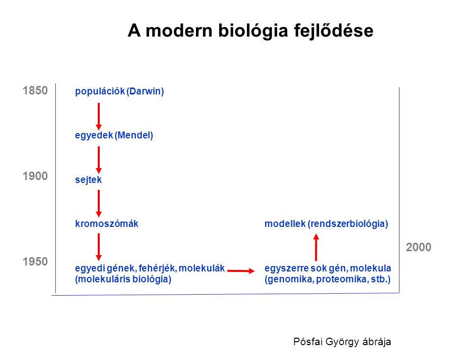 A modern biológia fejlődése