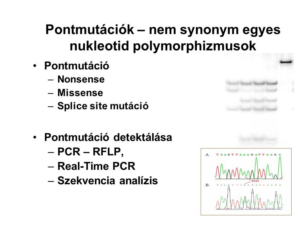 Pontmutációk – nem synonym egyes nukleotid polymorphizmusok