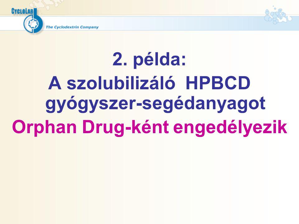 A szolubilizáló HPBCD gyógyszer-segédanyagot