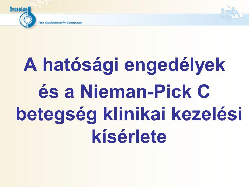 és a Nieman-Pick C betegség klinikai kezelési kísérlete