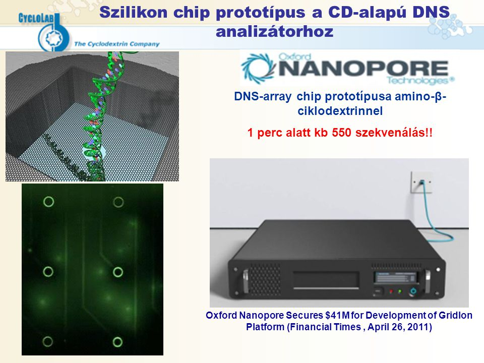 Szilikon chip prototípus a CD-alapú DNS analizátorhoz