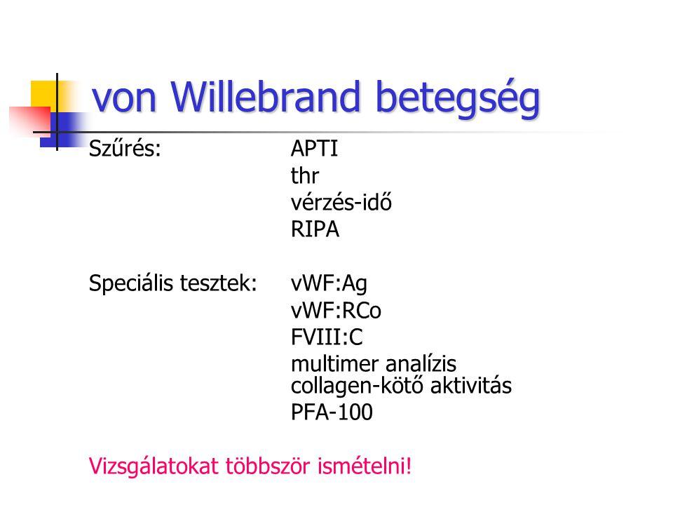 von Willebrand betegség