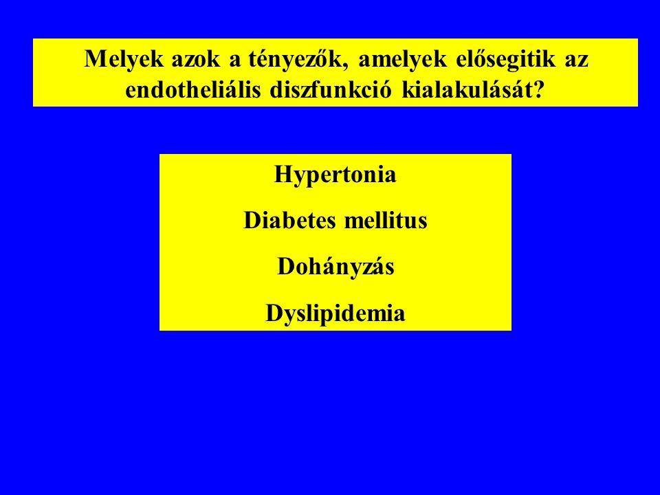 Melyek azok a tényezők, amelyek elősegitik az endotheliális diszfunkció kialakulását