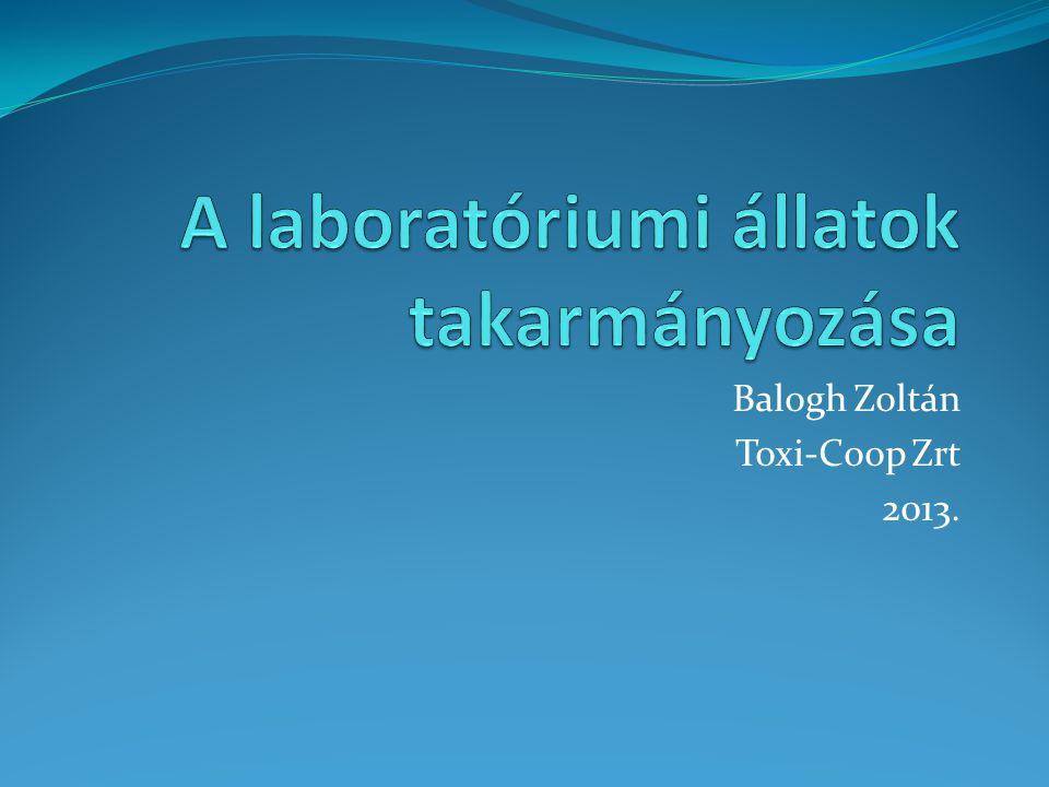 A laboratóriumi állatok takarmányozása