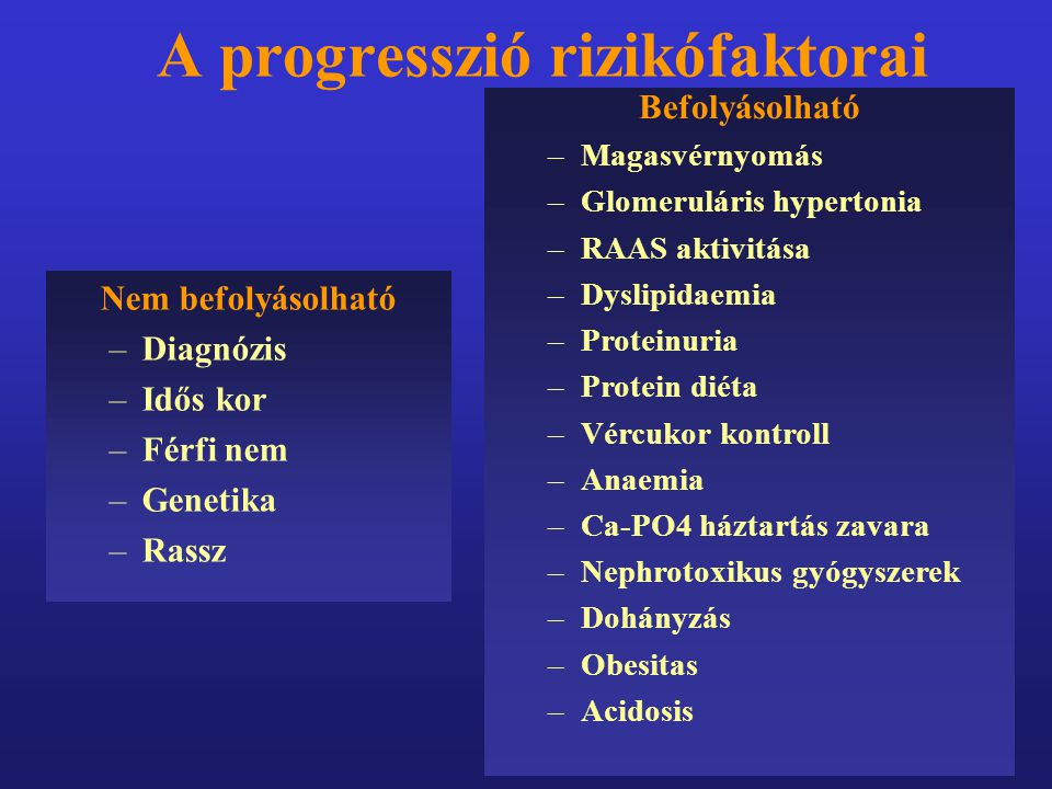 A progresszió rizikófaktorai