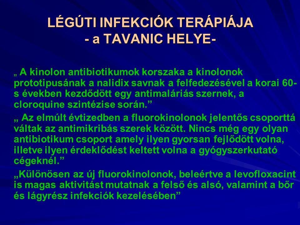 LÉGÚTI INFEKCIÓK TERÁPIÁJA - a TAVANIC HELYE-