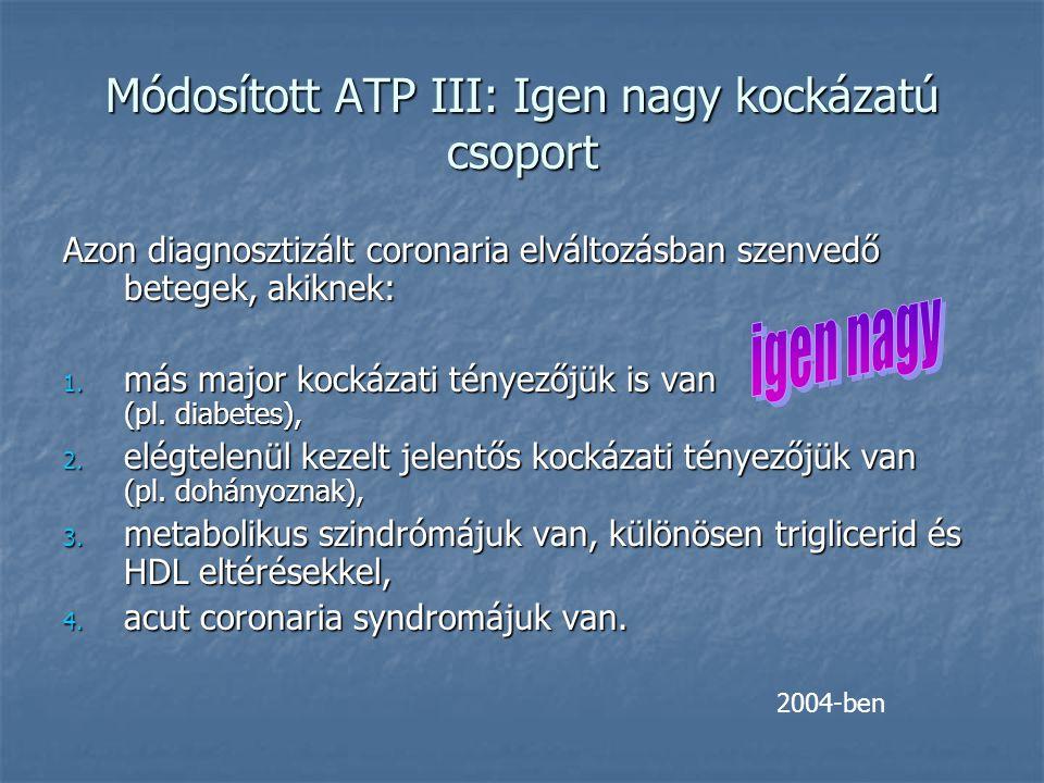 Módosított ATP III: Igen nagy kockázatú csoport