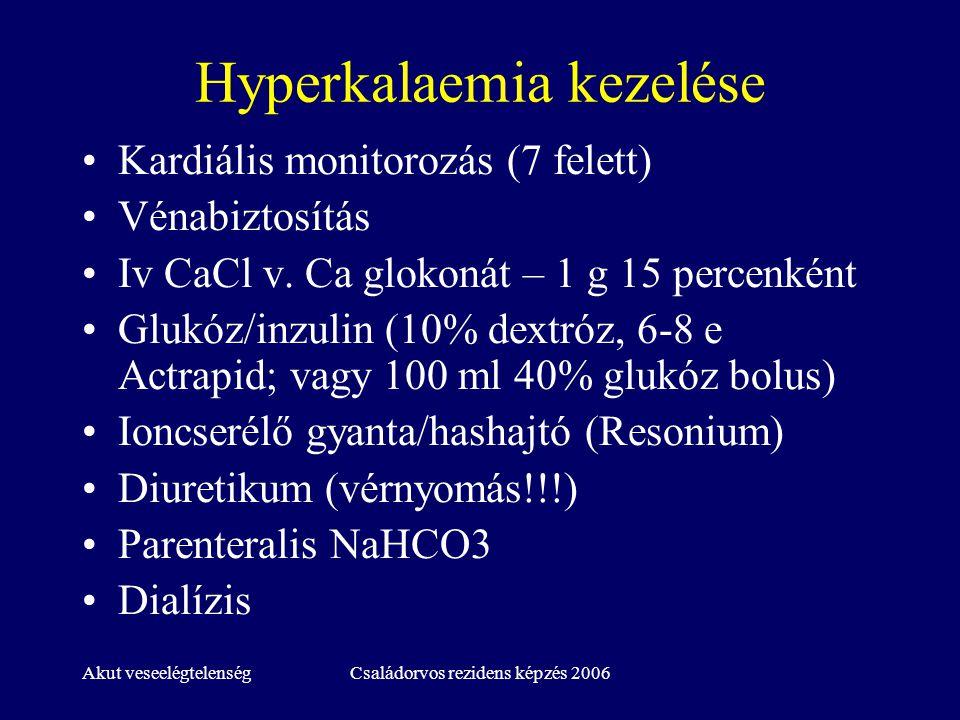 Hyperkalaemia kezelése
