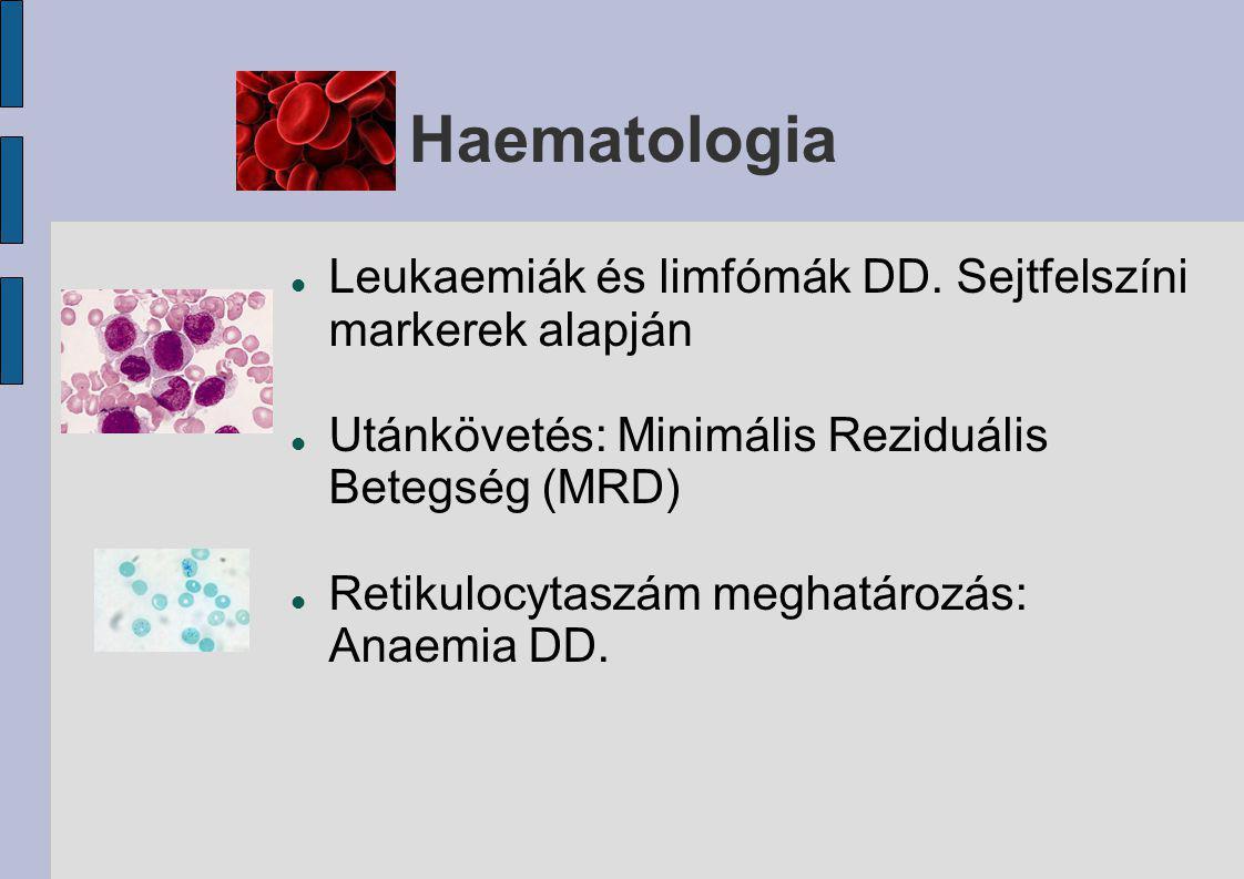 Haematologia Leukaemiák és limfómák DD. Sejtfelszíni markerek alapján