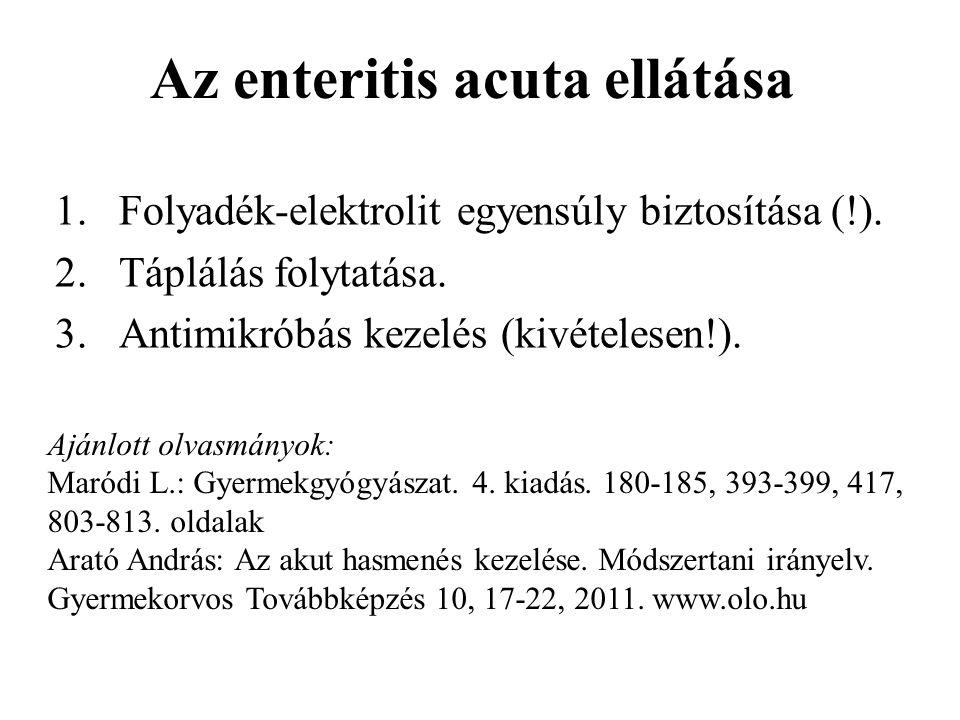 Az enteritis acuta ellátása