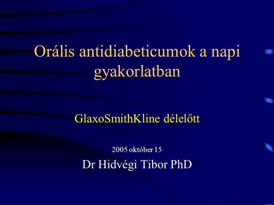 Orális antidiabeticumok a napi gyakorlatban