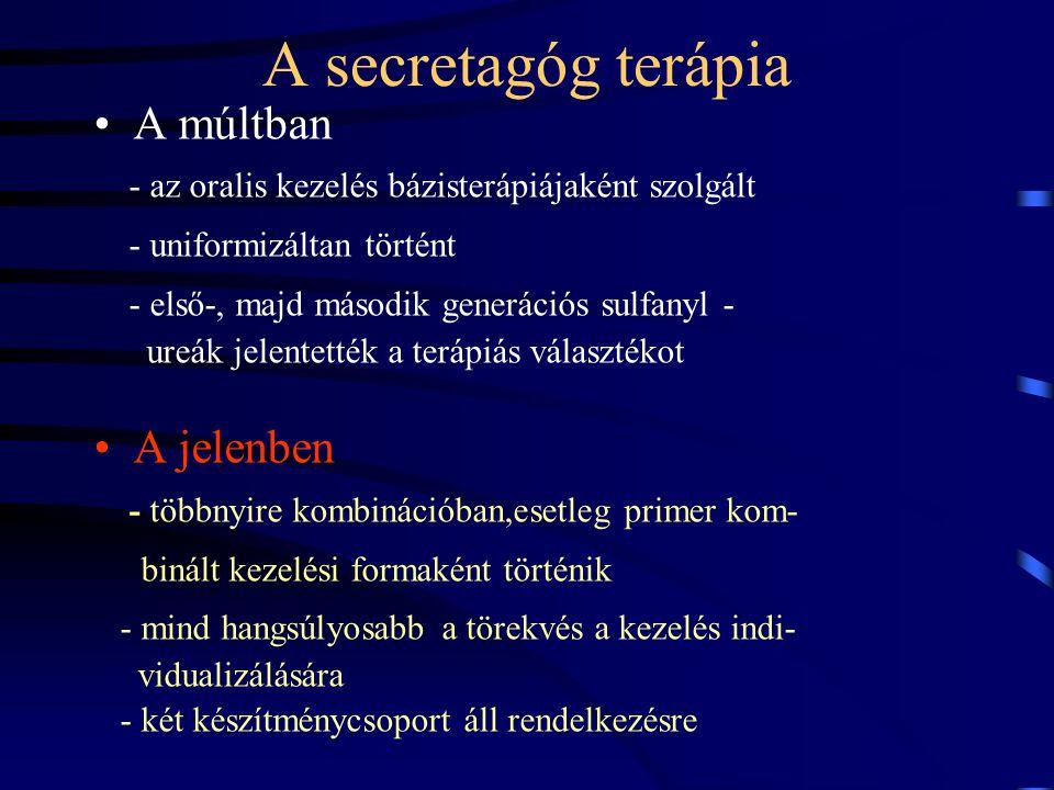 A secretagóg terápia A múltban