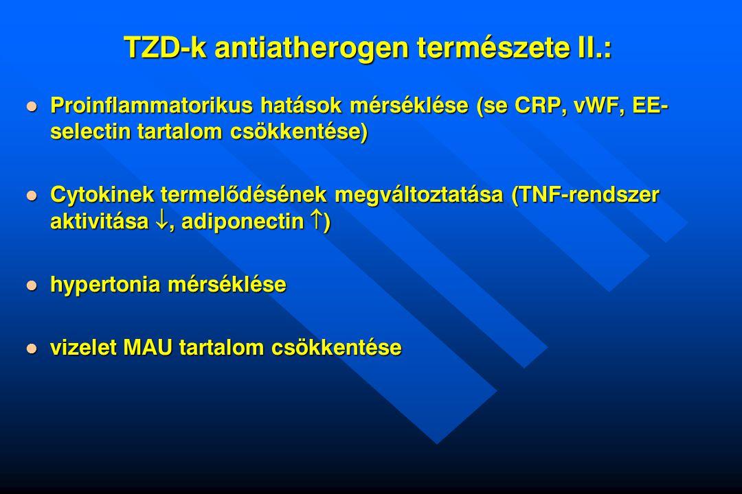 TZD-k antiatherogen természete II.: